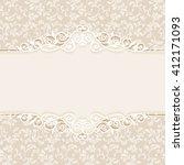 decorative vintage frame. swirl ... | Shutterstock . vector #412171093