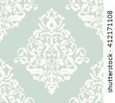 elegant damask wallpaper.... | Shutterstock . vector #412171108