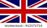 flag of the united kingdom in... | Shutterstock .eps vector #412171714