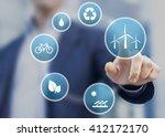 presentation about renewable... | Shutterstock . vector #412172170