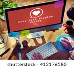 chat with singles nearby love... | Shutterstock . vector #412176580