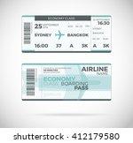airline boarding pass  economy...   Shutterstock .eps vector #412179580
