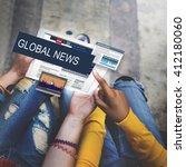 media journalism global daily... | Shutterstock . vector #412180060