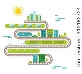 green urban community concept... | Shutterstock .eps vector #412182724