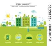 green community sustainable... | Shutterstock .eps vector #412182730