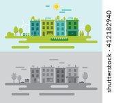 community environment concept... | Shutterstock .eps vector #412182940
