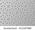 seamless islamic pattern 3d | Shutterstock .eps vector #412187080