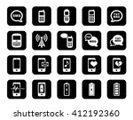 cell phone icon set | Shutterstock .eps vector #412192360