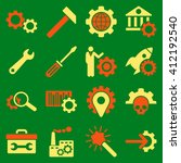 options and service tools icon... | Shutterstock .eps vector #412192540