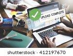 upload complete data uploading...   Shutterstock . vector #412197670