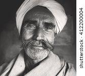 indigenous senior indian man... | Shutterstock . vector #412200004