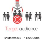 concept of the target audience. ... | Shutterstock .eps vector #412202086