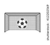 Goal Icon Vector Illustration...