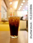 cold cola in glass drink for... | Shutterstock . vector #412203886
