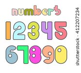 numbers. vector illustration. | Shutterstock .eps vector #412207234