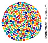 colorful mosaic texture in a... | Shutterstock .eps vector #412208674