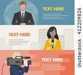 news anchor  reporter ... | Shutterstock .eps vector #412209826