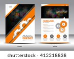 orange cover design  annual... | Shutterstock .eps vector #412218838