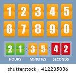 countdown timer | Shutterstock .eps vector #412235836