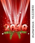 2010 new year composition. 3d... | Shutterstock .eps vector #41223850