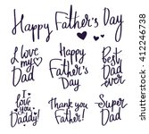 set inscriptions for father's... | Shutterstock .eps vector #412246738