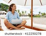 beautiful business woman... | Shutterstock . vector #412250278