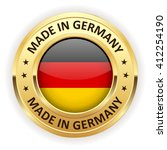 made in germany button with... | Shutterstock .eps vector #412254190