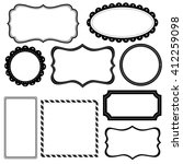 set of decorative frame | Shutterstock .eps vector #412259098