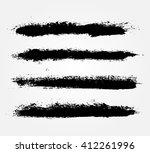 hand drawn brushes.vector brush ... | Shutterstock .eps vector #412261996