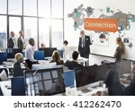 connection communication... | Shutterstock . vector #412262470