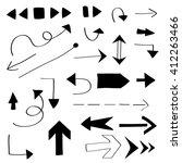vector design set   arrows ... | Shutterstock .eps vector #412263466