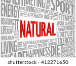 natural word cloud  fitness ... | Shutterstock .eps vector #412271650