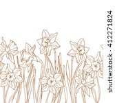 seamless floral border with... | Shutterstock .eps vector #412271824