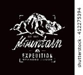 mountain expedition label with... | Shutterstock .eps vector #412275394