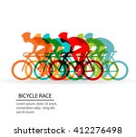 Colorful Poster With Cyclists...