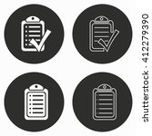 checklist    vector icon.... | Shutterstock .eps vector #412279390