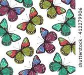 butterfly pattern | Shutterstock .eps vector #412279906