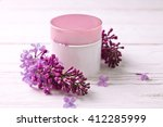 pot of moisturizing cream with... | Shutterstock . vector #412285999