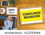 consumer behavior businessman... | Shutterstock . vector #412293466
