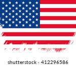 american flag made in brush... | Shutterstock .eps vector #412296586