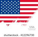 american flag made in brush... | Shutterstock .eps vector #412296730