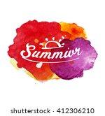 summer season on watercolor... | Shutterstock .eps vector #412306210
