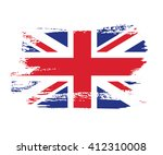 british flag made in brush... | Shutterstock .eps vector #412310008