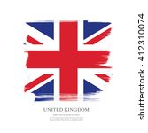 british flag made in brush... | Shutterstock .eps vector #412310074