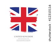 british flag made in brush... | Shutterstock .eps vector #412310116