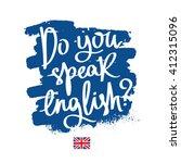 do you speak english ... | Shutterstock .eps vector #412315096