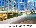 empty marble floor front of... | Shutterstock . vector #412315783