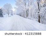 Rural Road Through A Winter...