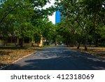 public park in town landscape... | Shutterstock . vector #412318069