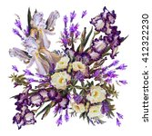 Floral Background. Iris White ...